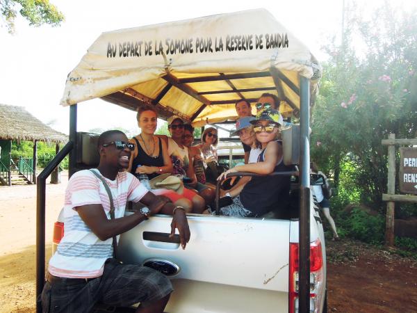 La réserve de Bandia avec nos amis de l'hôtel Royam et de l'hôtel Royal Baobab