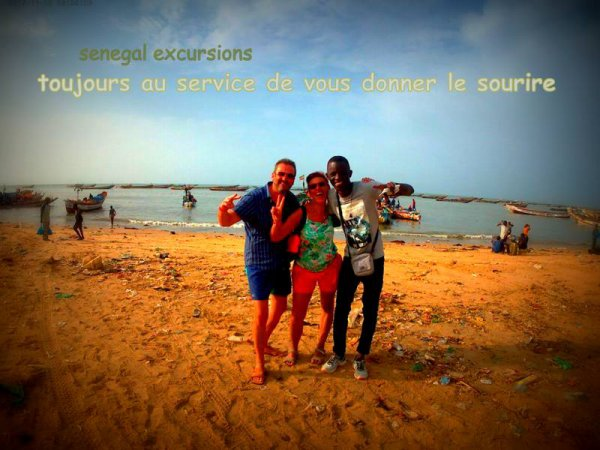 au depart de la somone avec nos amis de l'hôtel royal baobab. Sénégal excursions toujours le meilleur choix