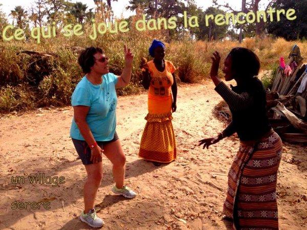 au depart de la somone avec nos amis de l'hôtel royal baobab pour une journée découverte brousse et villages dans le saloum du senegal