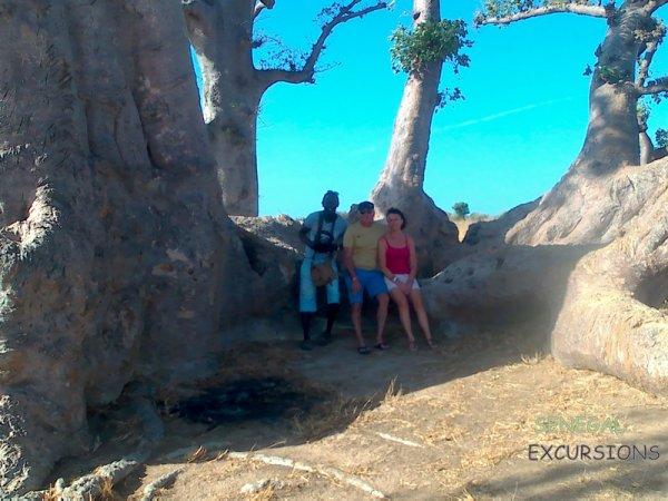 au depart de la somone avec nos amis de l'hôtel royal baobab. Sénégal excursions l voyage dans l coeur du senegal