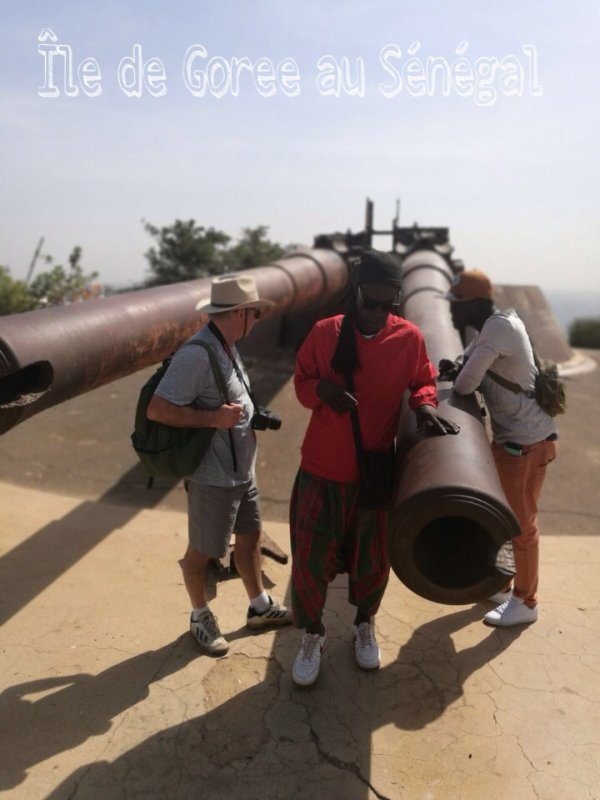 Au départ du royal baobab horizon. Journée sur sur l'île de Goree en famille