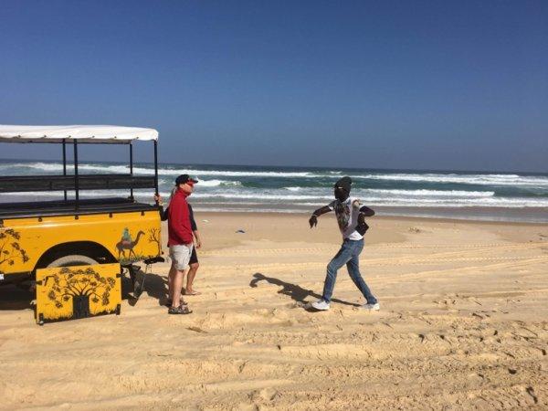 Merci à nos amis de l'hôtel palm beach à Saly. À la découverte du lac rose au Sénégal