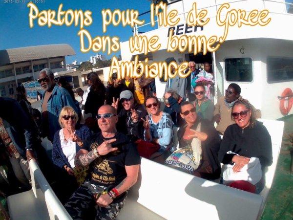 Avec nos amis de l'hôtel filaos journée Goree lac rose. Une belle journée dans le sourire de la teranga