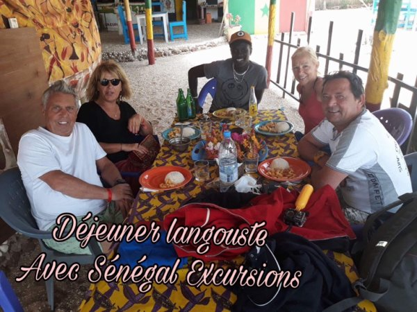 Au départ du Royal saly au Sénégal. Pêche à la palangrotte et déjeuner langouste sur la lagune de la Somone.