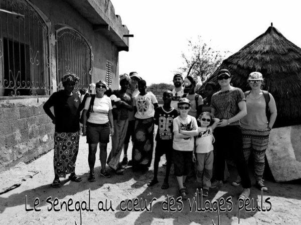 Belle balade en TGV SENEGALAIS avec nos amis de l'hôtel filaos à Saly, une matinée dans les villages peuls.