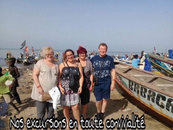 Mbour et son retour des pêcheurs avec nos amis de l'hôtel filaos à Saly.
