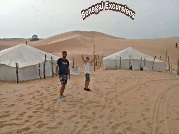 Une belle découverte du désert de lompoul avec nos amis de Saly.