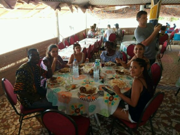 Une belle découverte du lac rose en convivialité avec nos amis de Dakar.
