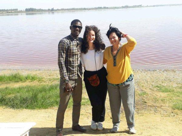 Une belle matinée au lac rose avec nos amis du Royal baobab à la.Somone.Merci à nos amis de la Belgique