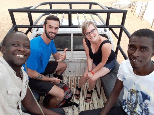 Ai désert de Lompoul une belle nuit avec nos amis en lune de miel au Sénégal. Merci Jessica et leo des moments supers sympathiques.