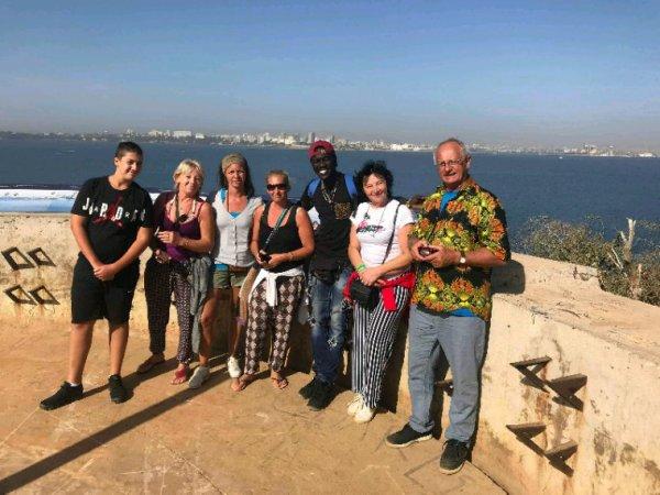 Au départ de l'hôtel filaos saly avec nos amis  de la Belgique qui nous ont fait confiance pour découvrir un Sénégal en toute sérénité.