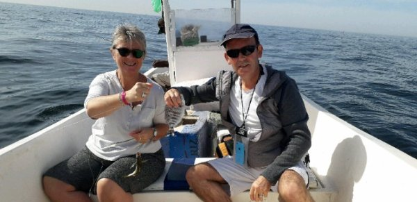 Pêche côtière avec nos amis de l'hôtel Royal