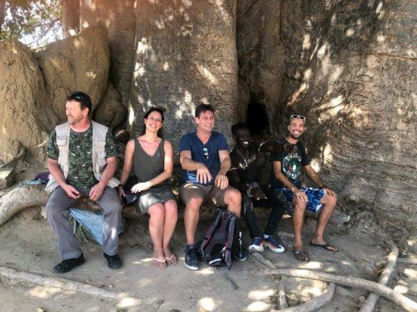 Avec nos amis de l'hôtel kapa au royal baobab au seneggl