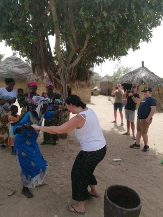 Une belle découverte dans le sine et saloum, visite des villages un moment mémorable avec nos amis de l'hôtel royam à Saly
