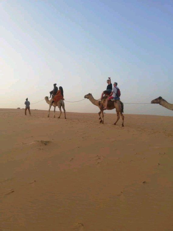 Saint et le désert de lompoul avec nos amis de la résidence Popenguine à Saly.