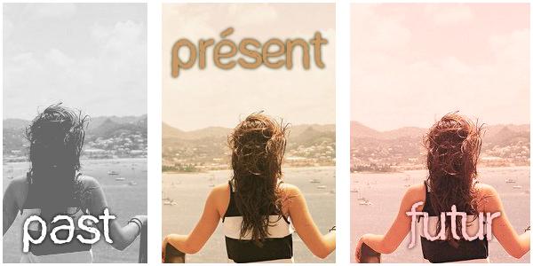 * « Oublies ton passé qu'il soitsimple ou composé,  participe au présent et ton futur sera plus-que-parfait !» * Web.*