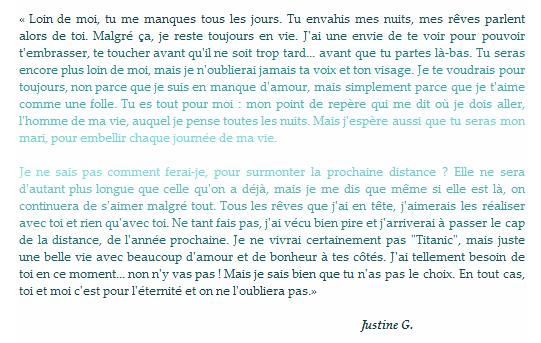 * « Loin de nos vies, de nos villages, J'oublierai ta voix, ton visage.  J'ai beau te serrer dans mes bras,  tu m'échappes déjà là-bas...» * Jean Jacques Goldman - Là bas.*