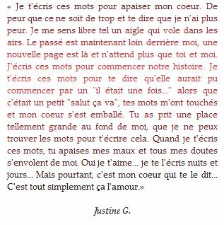 * « Ecrire pour être libre...» * Justine G.*