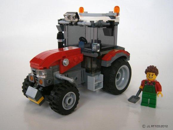V hicules city s rie 4 le tracteur rouge et la presse bienvenue - Cars et les tracteurs ...