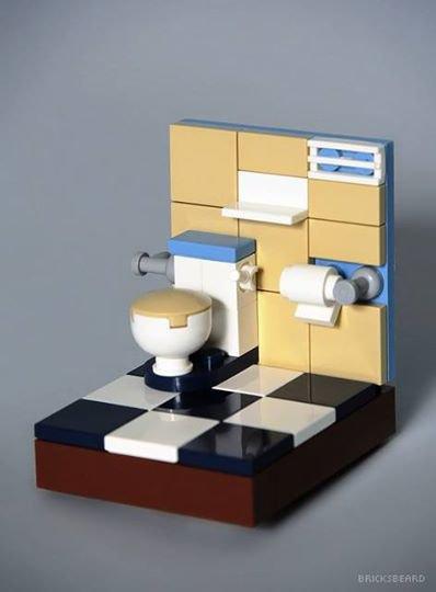 Toillette En Lego