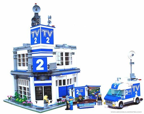 Batiment TV Lego