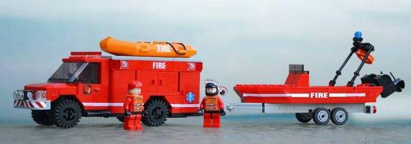 Camion De Secour En Mer Lego