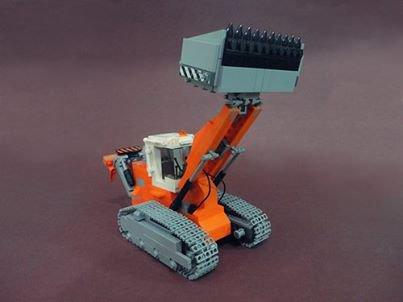 Auto Chargeuse a Chemille En Lego