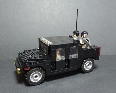 Voiture Blindé Lego