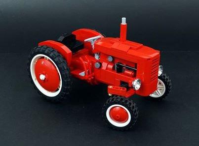 Vieux Tracteur Rouge Lego
