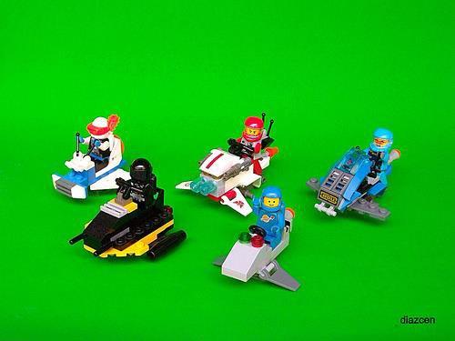 Petite Course De Vehicule Du Futur Lego