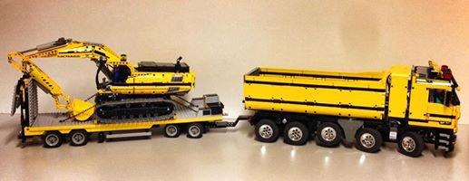 Camion Benne Et Pelleteuse Lego
