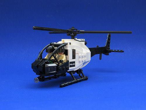 Helicoptere De La Police Lego