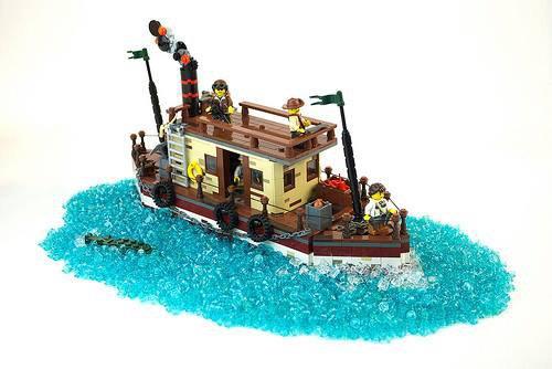 Bateau A Vapeur Lego