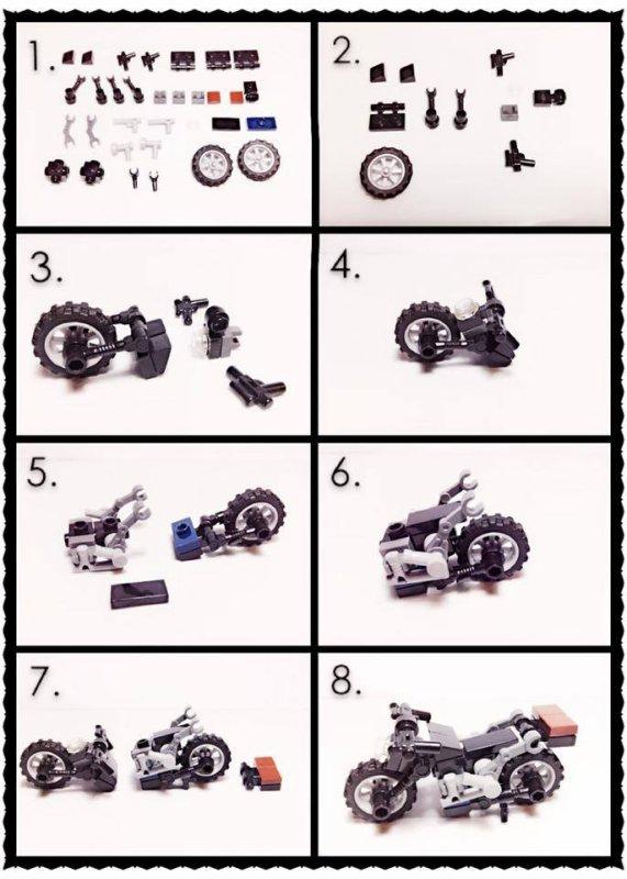 Moto Lego Avec Le Plan