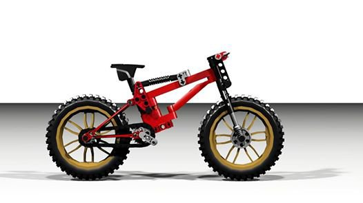 Vélo Cross Rouge lego