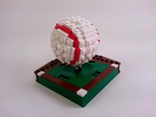 Balle De Baseball En Lego