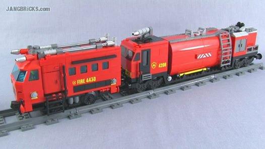 Train Des Pompiers En Lego