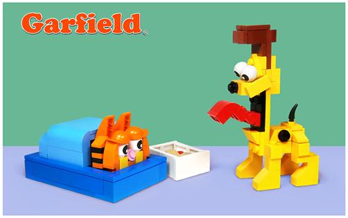 Garfied En Lego
