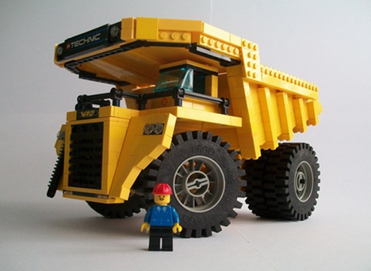 Gros Camion De Chantier Lego