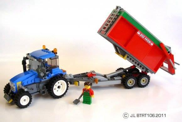 Tracteur Avec Remorque En Lego