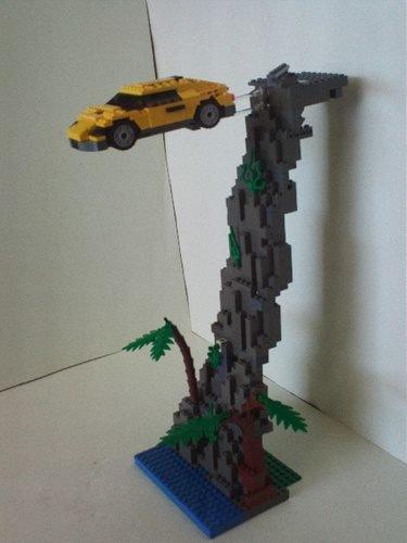 Voiture Qui Saute Dans Un Ravin En Lego