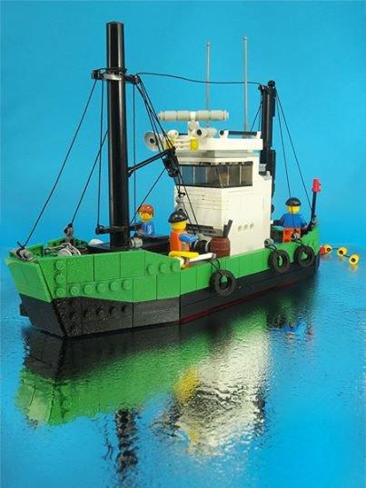 Bateau De Pêche En Lego