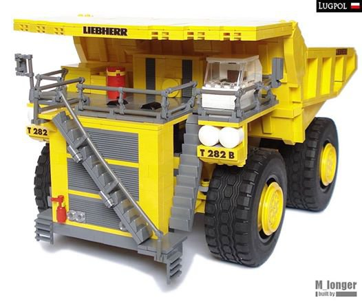 Gros Camion De Chantier En Lego