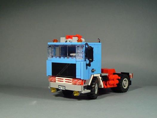 Camion Bleu En Lego