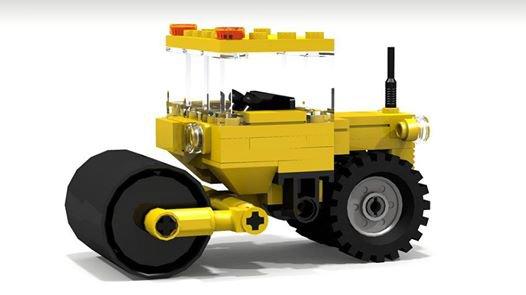 Rouleau Compresseur En Lego
