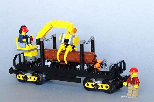 Wagon Pour Le Bois En Lego
