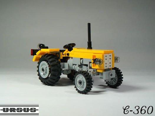 Tracteur Jaune En Lego