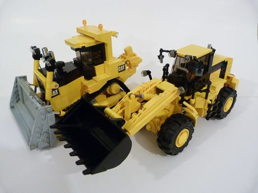 Engin De Travaux Public Caterpillar En Lego