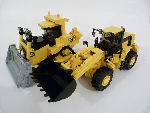 Engin De Travaux Public Caterpillar En Lego