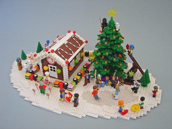 Village De NOËL En Lego